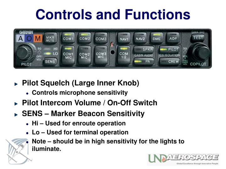 Controls and Functions