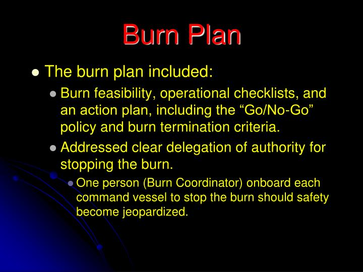Burn Plan