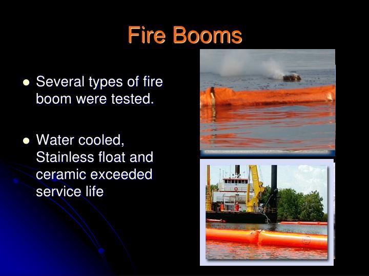 Fire Booms