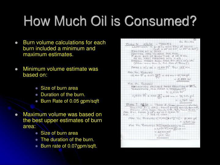 How Much Oil is Consumed?