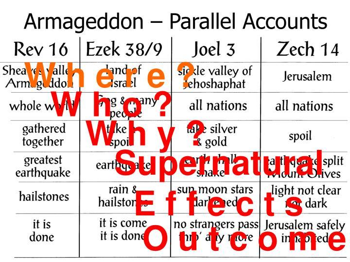 Armageddon – Parallel Accounts