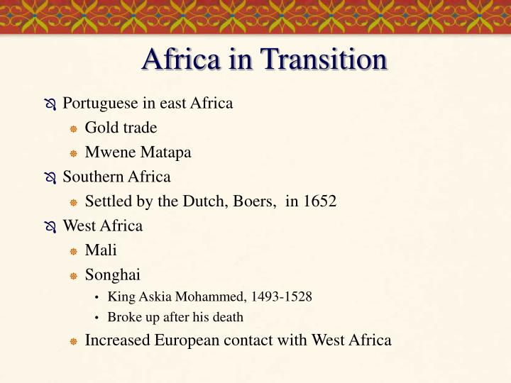 Africa in Transition