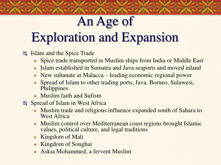 An age of exploration and expansion