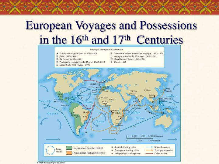 European Voyages and Possessions in the 16