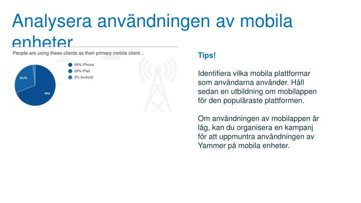 Analysera användningen av mobila enheter