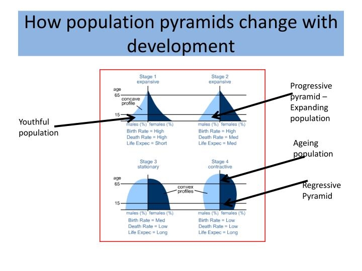 How population pyramids change with development