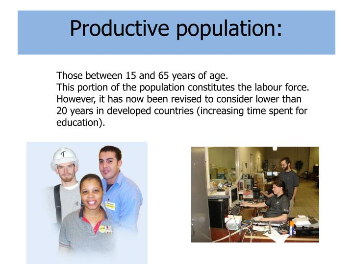 Productive population: