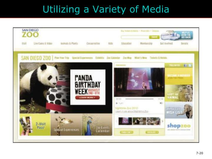 Utilizing a Variety of Media