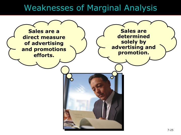 Weaknesses of Marginal Analysis