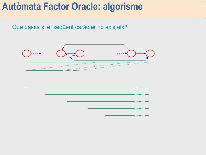 Autòmata Factor Oracle: algorisme
