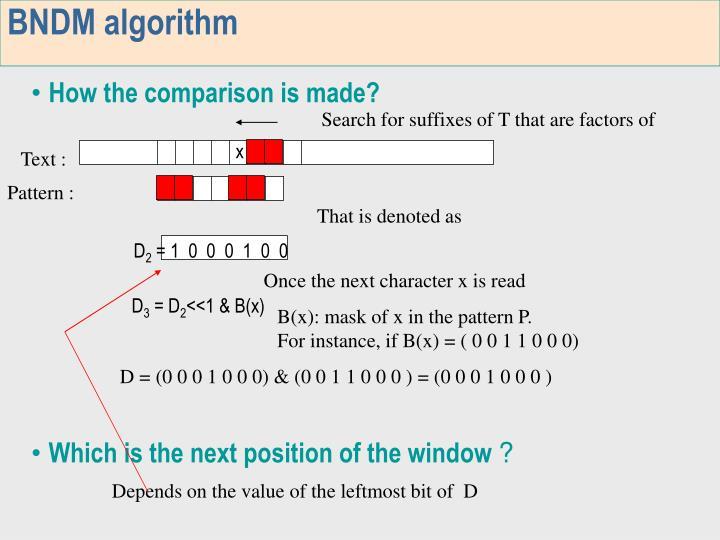 BNDM algorithm