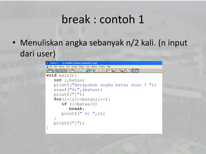 break : contoh 1