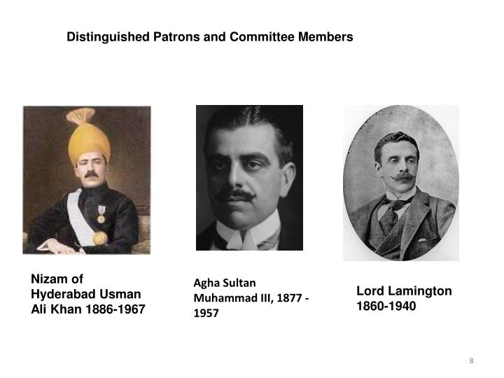 Distinguished Patrons and Committee Members
