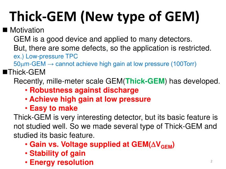 Thick-GEM (New type of GEM)
