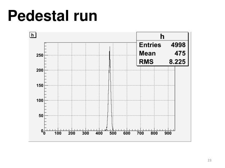 Pedestal run