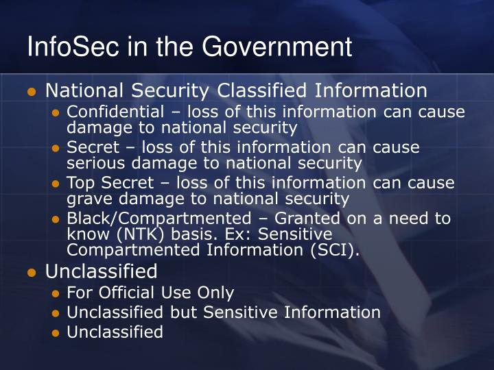 InfoSec in the Government
