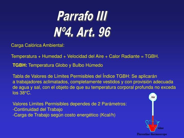 Parrafo III