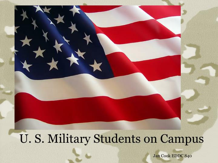 U s military students on campus jan cook eddc 840