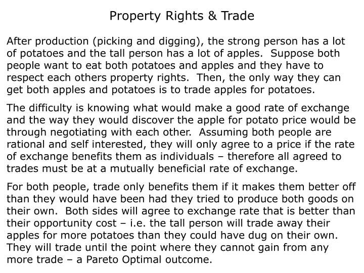 Property Rights & Trade