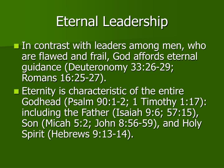 Eternal Leadership