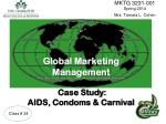 global marketing management case study aids condoms carnival