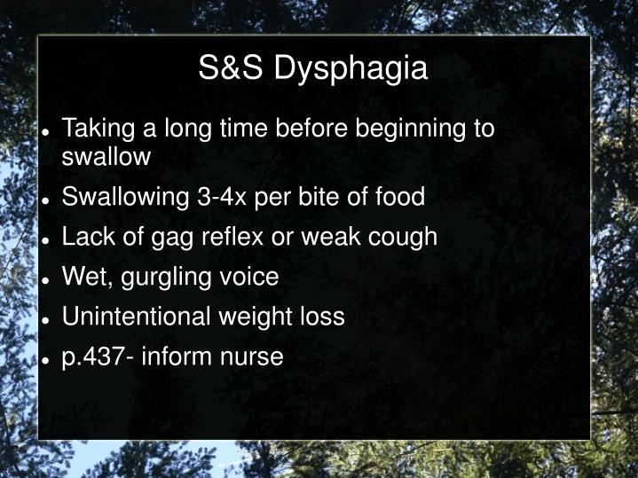 S&S Dysphagia