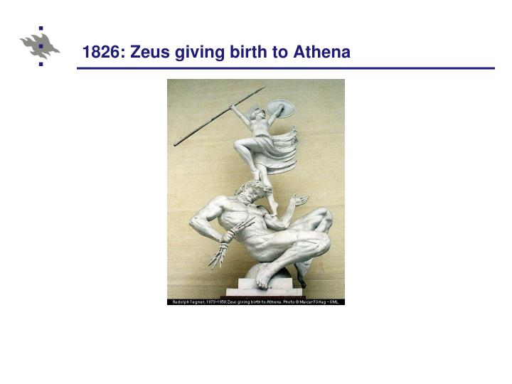 1826: Zeus giving birth to Athena