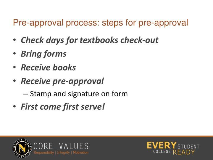 Pre-approval process: steps for pre-approval