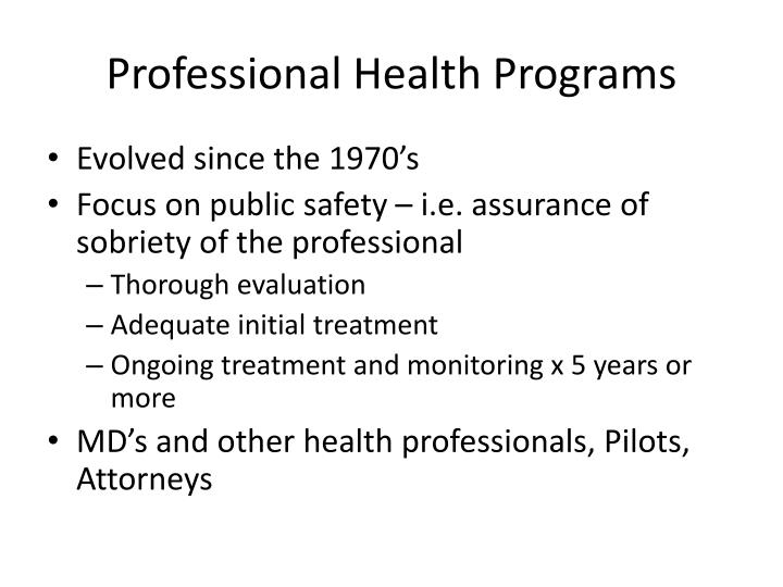 Professional Health Programs