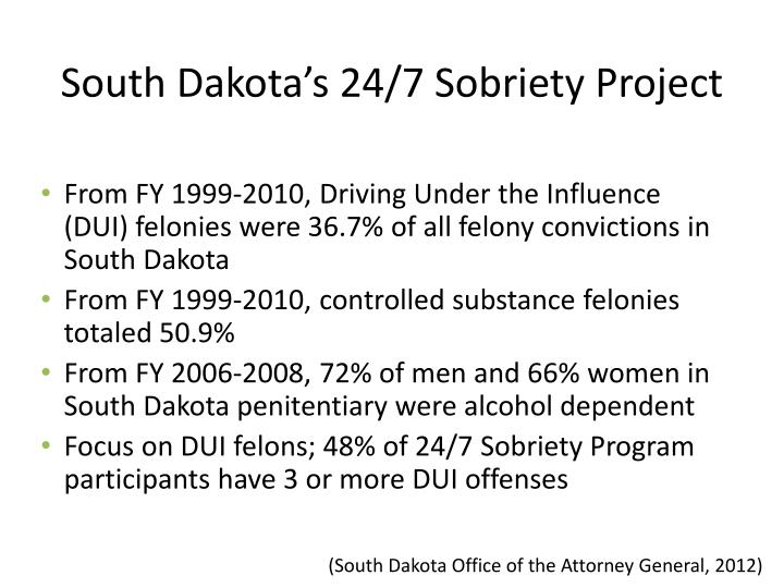 South Dakota's 24/7 Sobriety Project