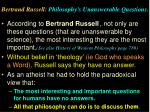 bertrand russell philosophy s unanswerable questions