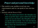 prayer and personal knowledge2