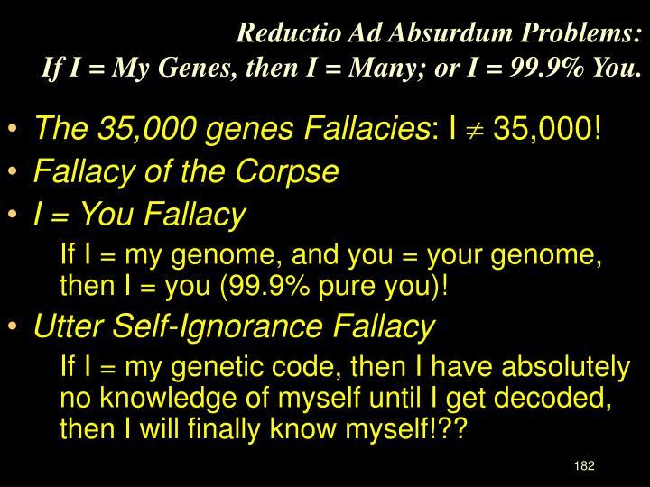 Reductio Ad Absurdum Problems: