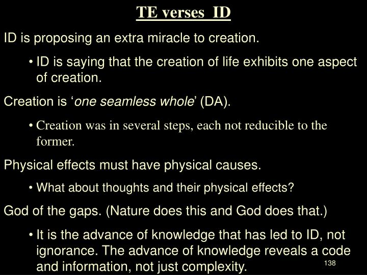 TE verses  ID