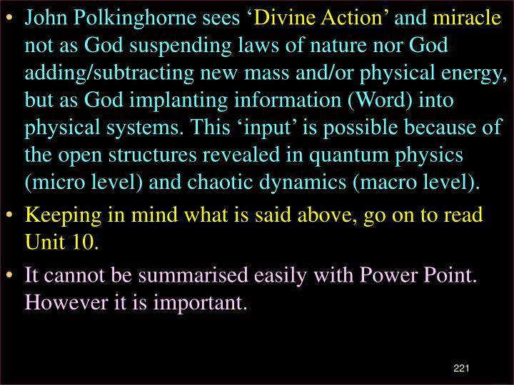 John Polkinghorne sees '