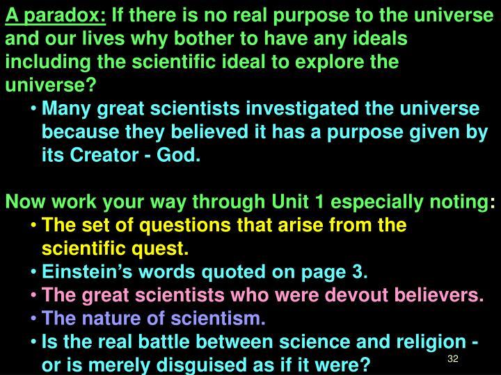 A paradox: