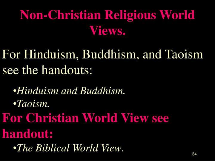 Non-Christian Religious World Views.