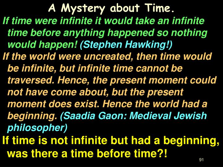 A Mystery about Time.