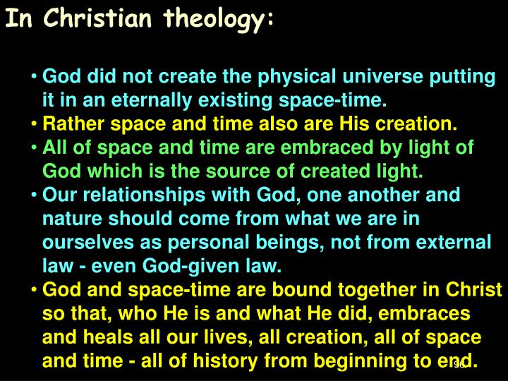 In Christian theology: