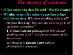 the mystery of existence1