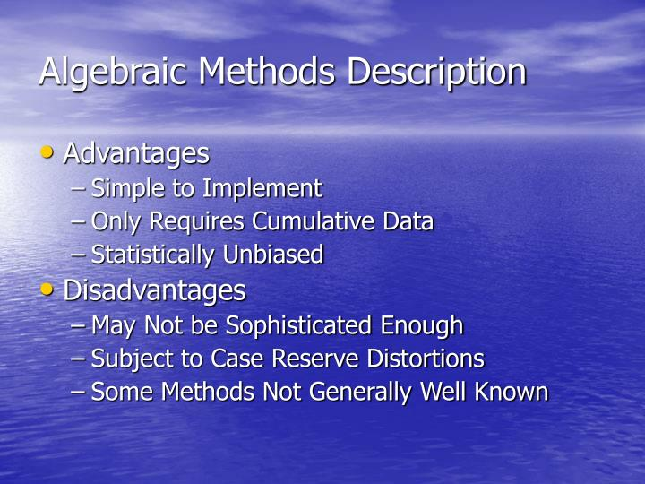 Algebraic Methods Description