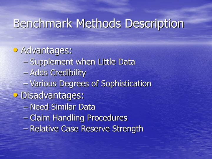 Benchmark Methods Description