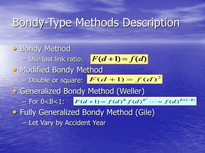Bondy-Type Methods Description
