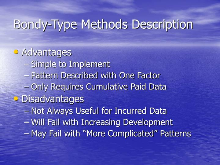 Bondy-Type Methods Description