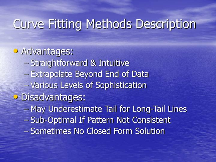 Curve Fitting Methods Description