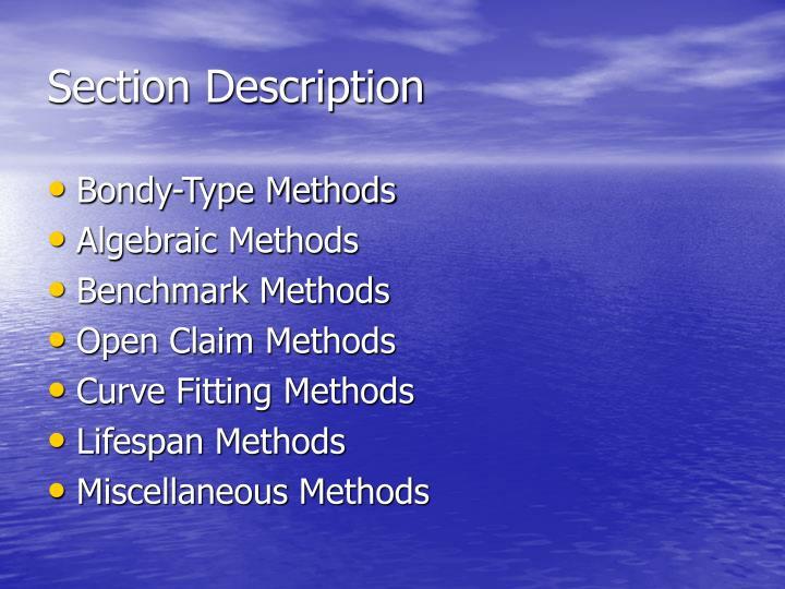 Section Description