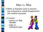 man vs man