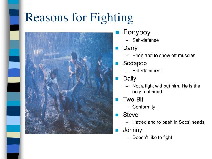Reasons for Fighting