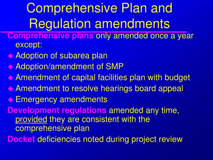 Comprehensive Plan and Regulation amendments