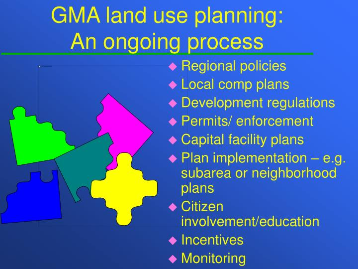 GMA land use planning: